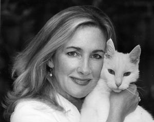 Portrait of Susan Noble and her cat